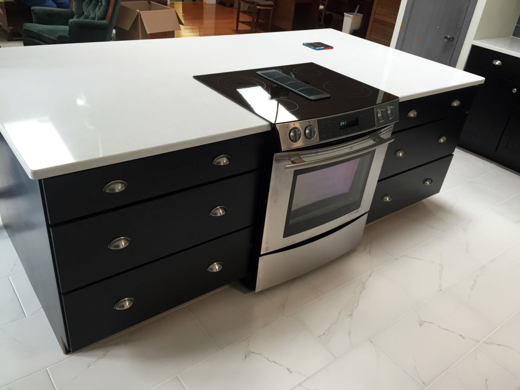 Medallion Cabinetry In Maple Carriage Black With Cambria Quarz Countertops
